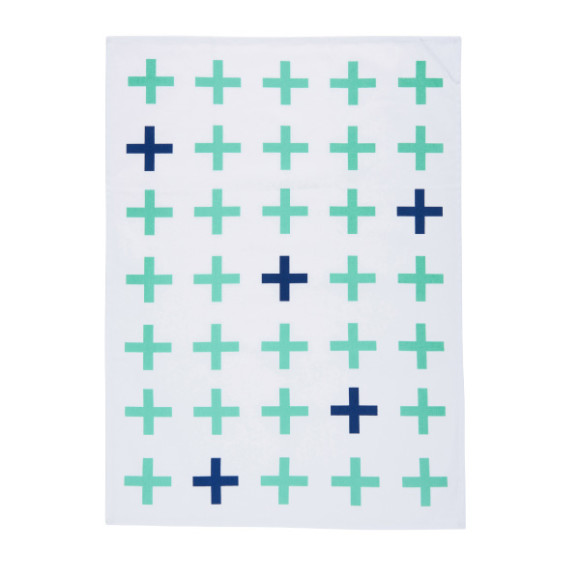 Aqua + Navy Cross