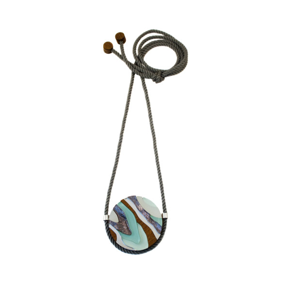 Marble III Necklace - Mint