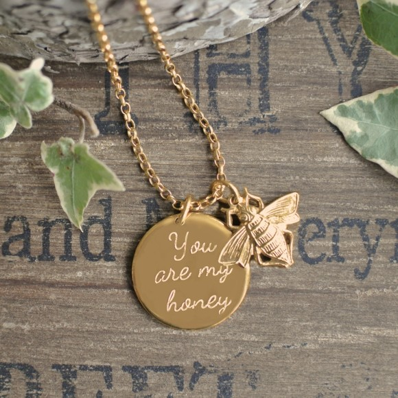 Front of gold necklace
