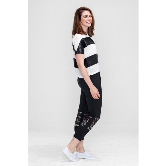 Minimal Stripe Black and White Tee