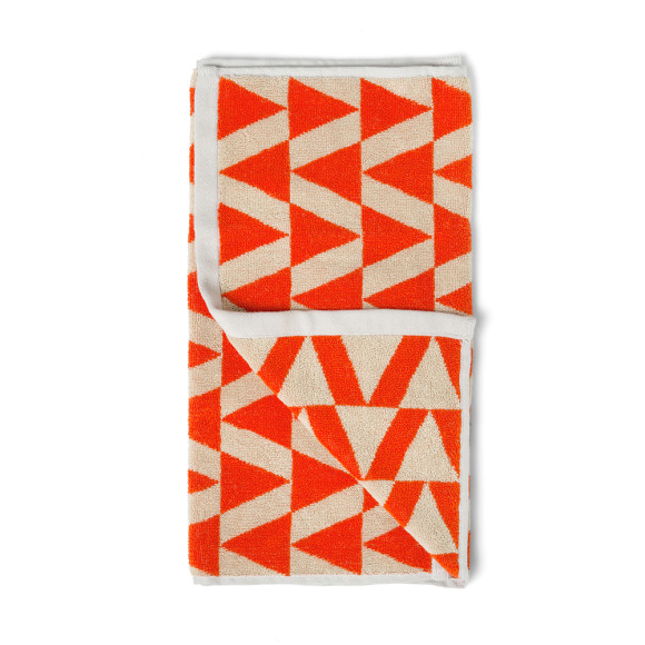Fiery Coral Hand Towel