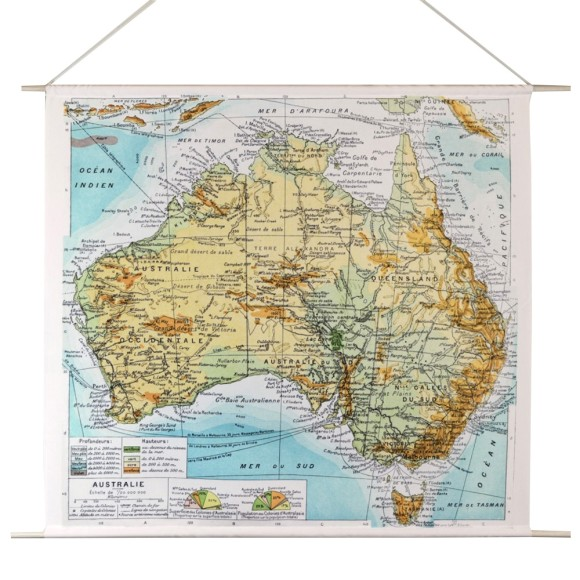 Australian map canvas wall hanging hardtofind australian map canvas wall hanging gumiabroncs Image collections