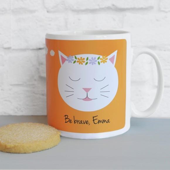 'What If I Fall?' quote mug Orange
