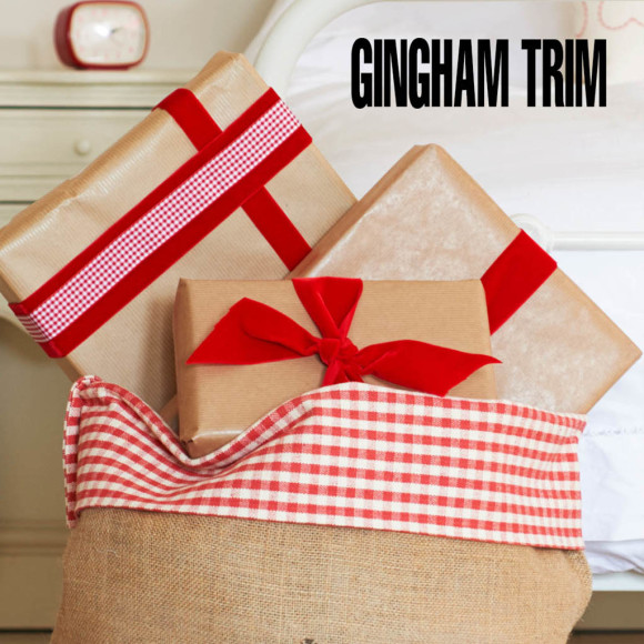 How the Gingham trim looks