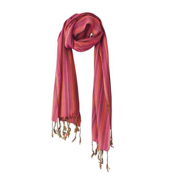 Multi scarf crimson