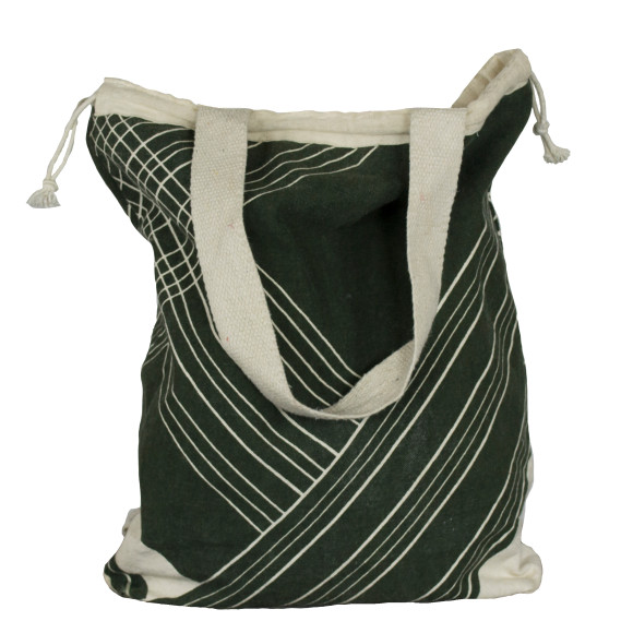 Olive stripe backpack