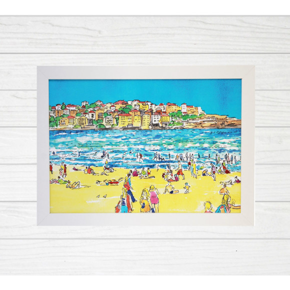 Bondi Beach Ben Buckler Art Print