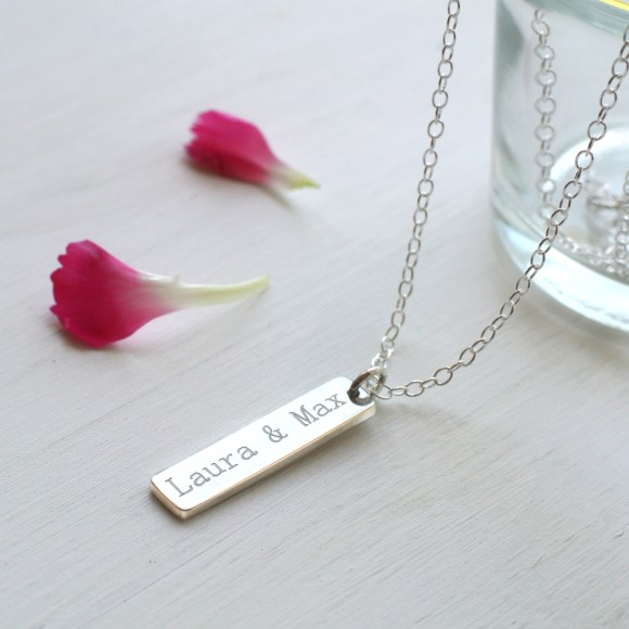 Sterling Silver Little Bar Necklace