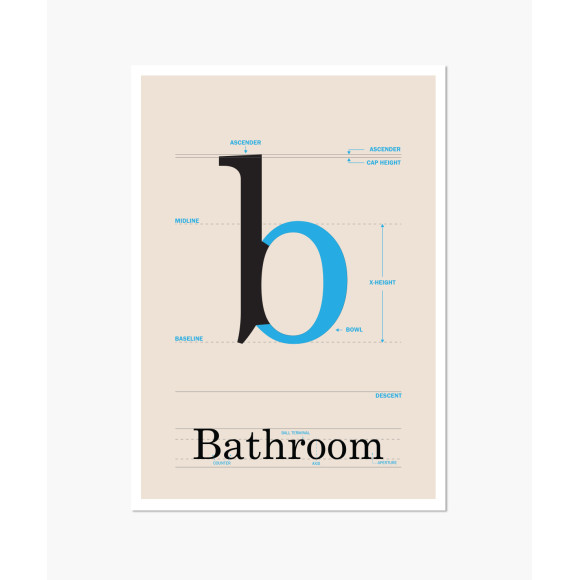 Bathroom poster