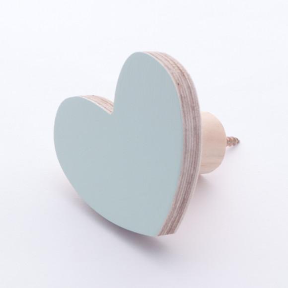 Mint Heart Wall Hook