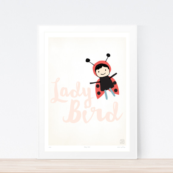 Ladybird Art Print (Framed)