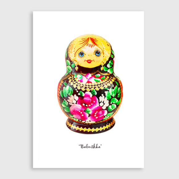 Babushka art print