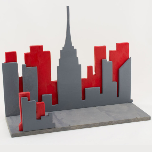 City Skyline shelf