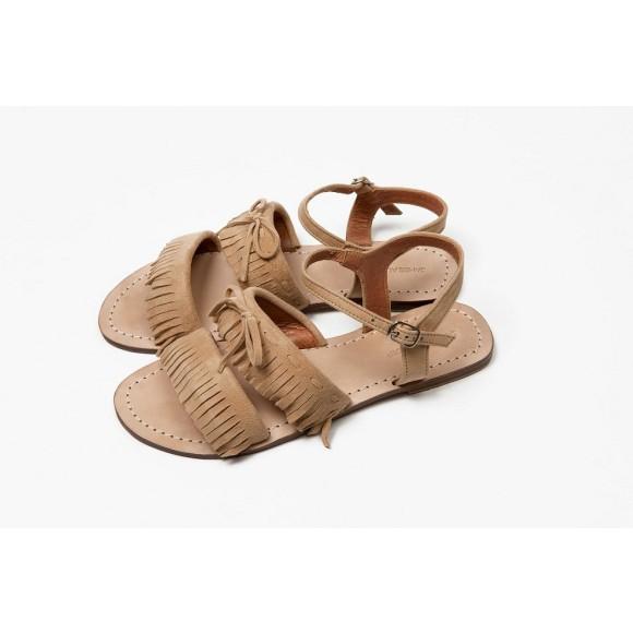 Baja Fringe sandal Caramel Suede