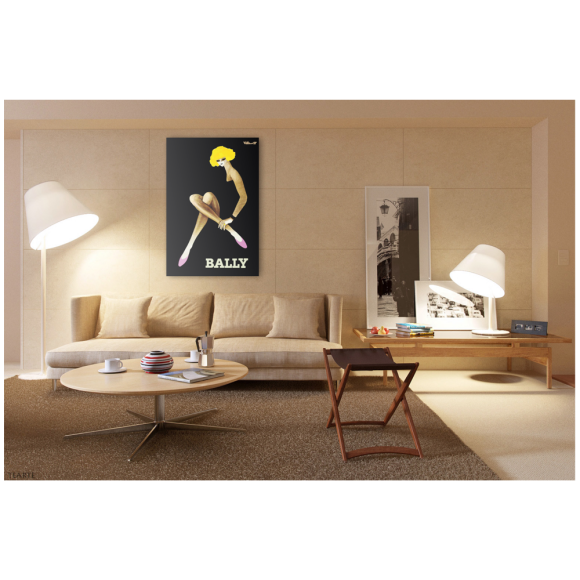 Bally Blonde Vintage Poster Hung