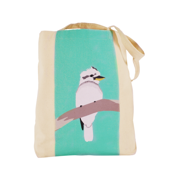 Kookaburra canvas tote bag