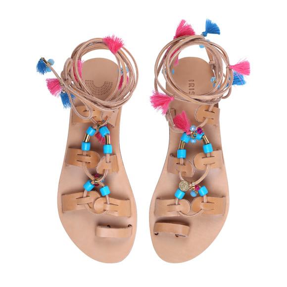 tassel embellished gladiator sandals