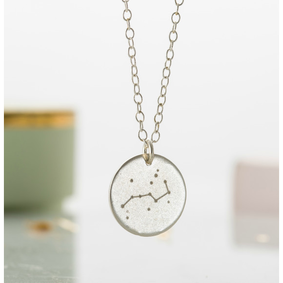 The necklace features the Plough (or Big Dipper) star constellation