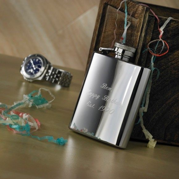 Engraved Neat Hip Flask
