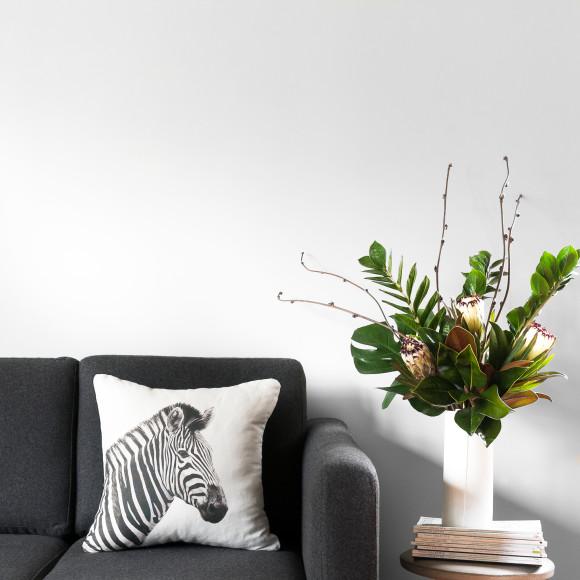 Hector Rose Zebra Cushion