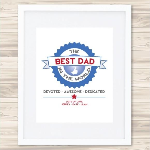 Best Dad Badge