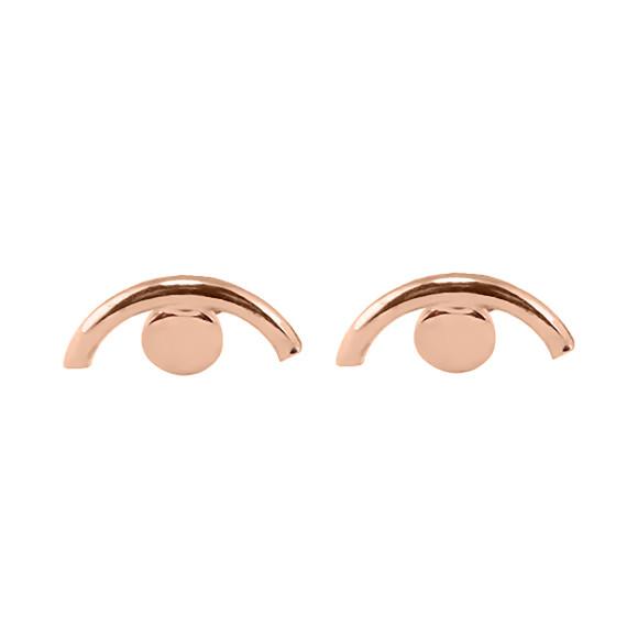 Eye Stud Earrings Rose gold
