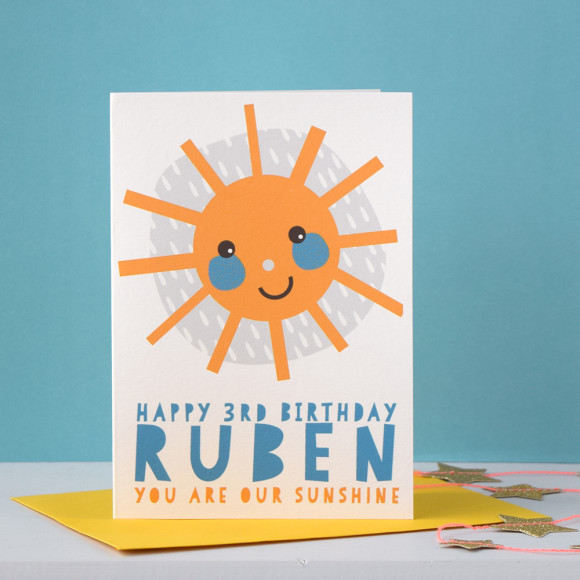 You Are My Sunshine Personalised Childrens Birthday Card Hardtofind