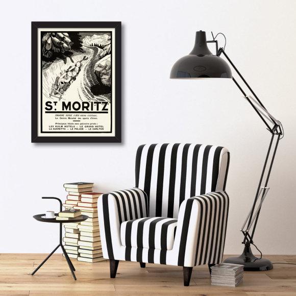 St Moritz: Framed