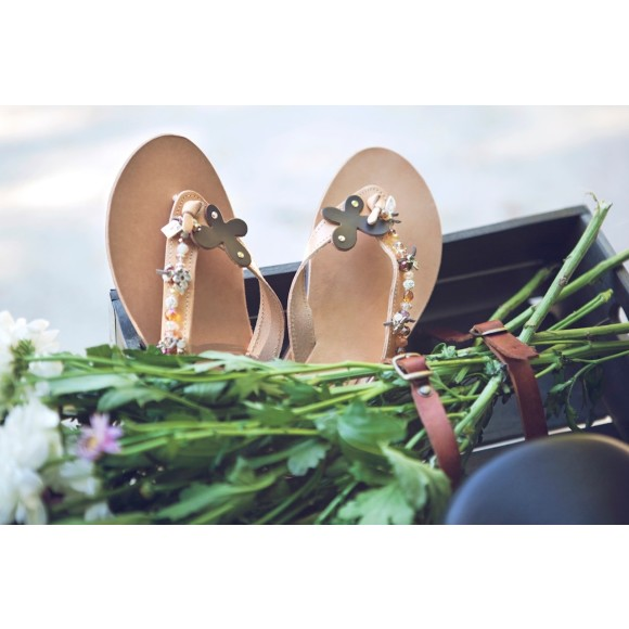 Amaryllis embellished sandals