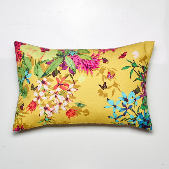 Tropicana cushion in gold