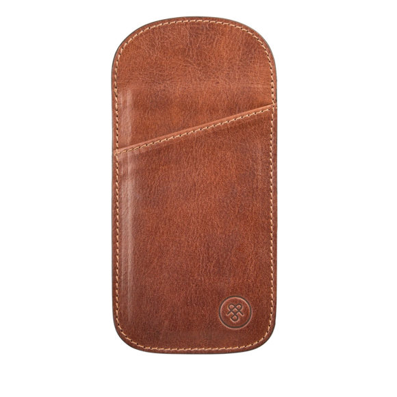 The Rufeno glasses case in chestnut tan.