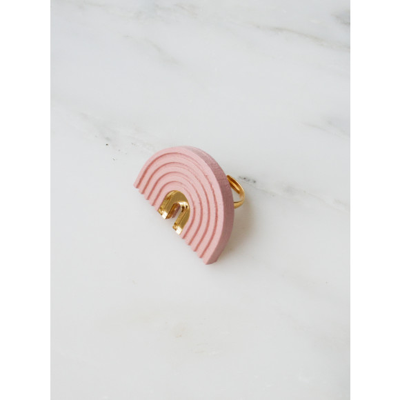 Arch Ring - Pale Pink