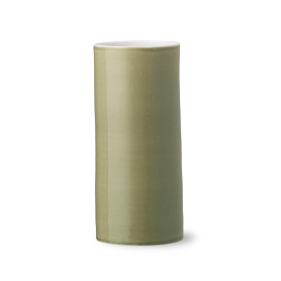Bloom vase in olive