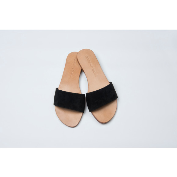 Slide Black Suede