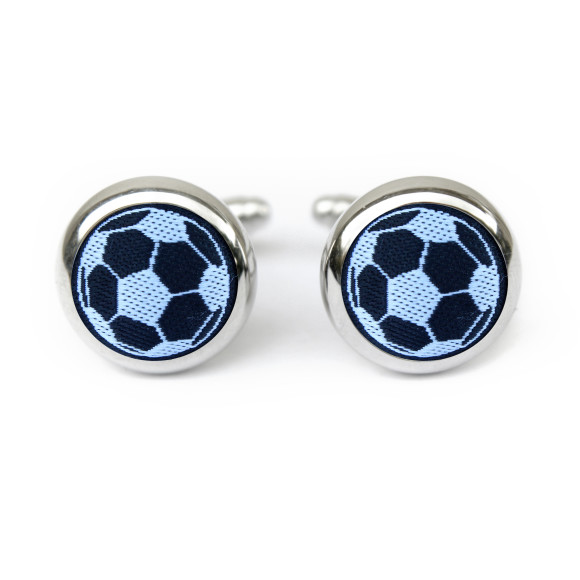 Black and White Soccer Cufflinks