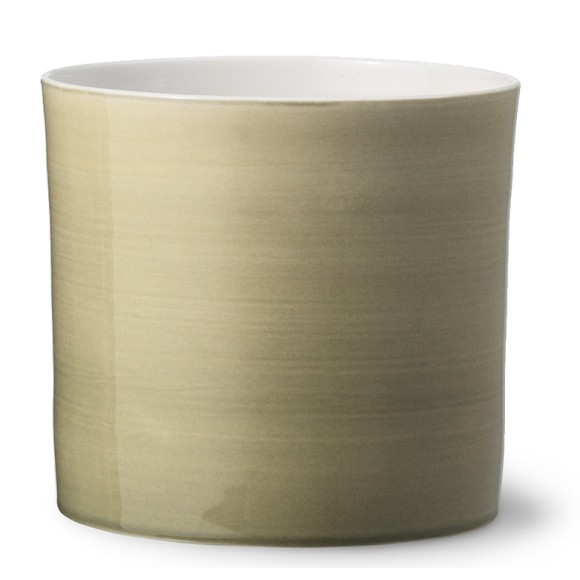 Anne Black flowerpot in olive green