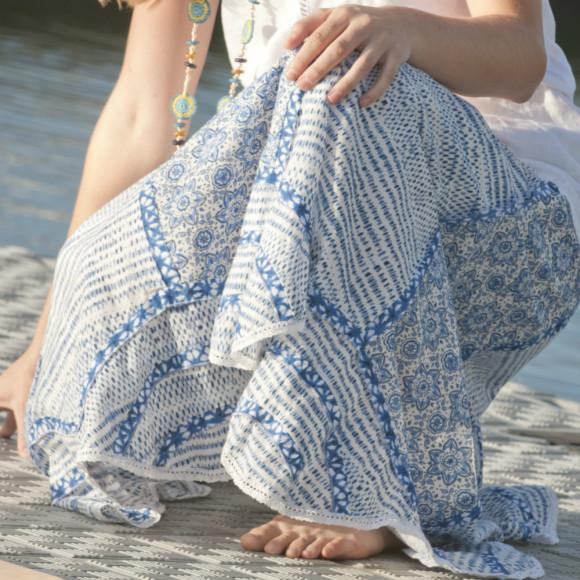 Blue Mina Skirt