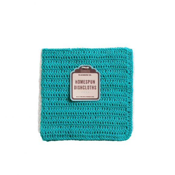 Turquoise dish cloths