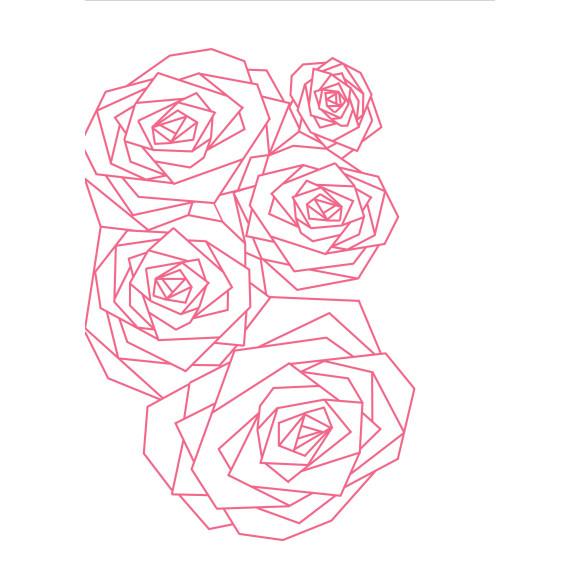 Geo Rose Pink PRINT