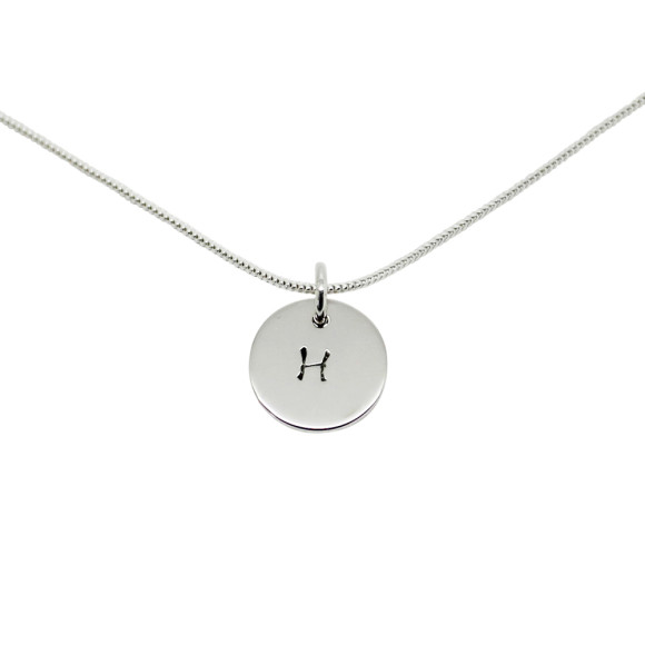 Initial Circle Necklace