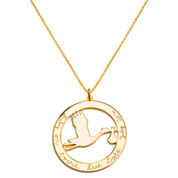 Stork necklace