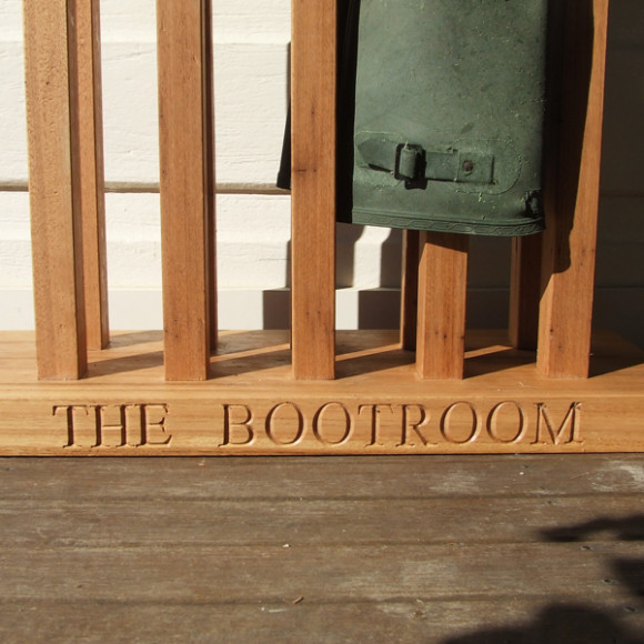 personalised boot rack