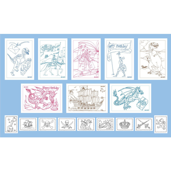8 great card designs to add colour to....