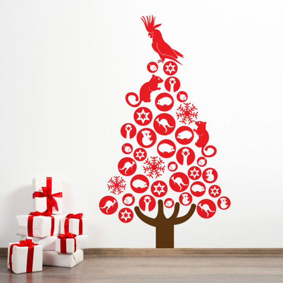 Australian Christmas Tree Wall Decal In Large Hardtofind