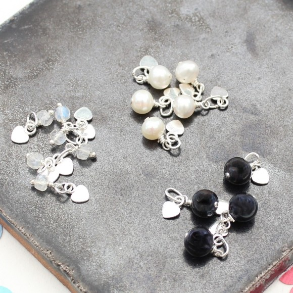 moonstone and pearl charms for June