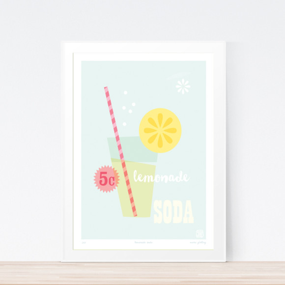 Lemonade Soda Art Framed