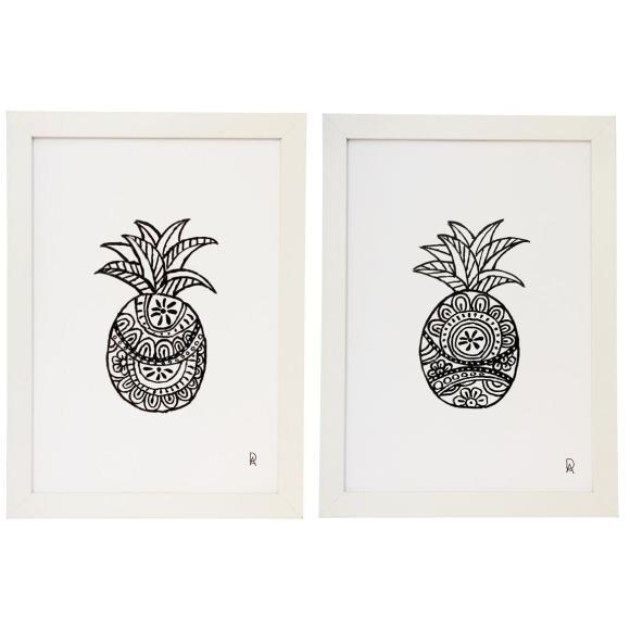Black and White Art Print Set