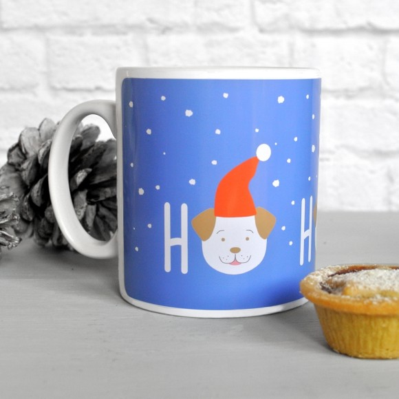 Fido the dog HO HO HO mug