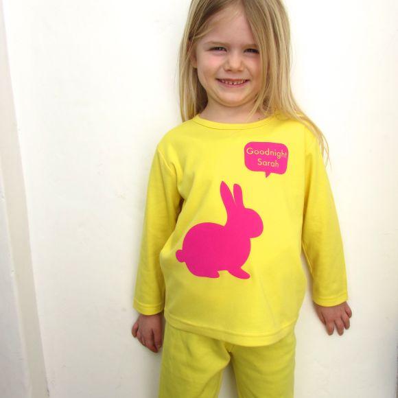 personalised bunny pyjamas
