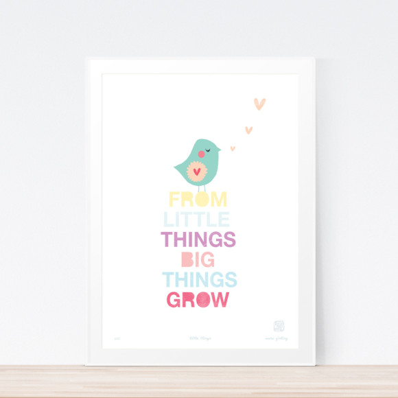 Little Things Art Print Framed
